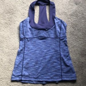 Lululemon Size 8 Tank Blue Striped